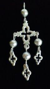 シルバーペンダントヘッド・メキシコ古代宗教の十字架