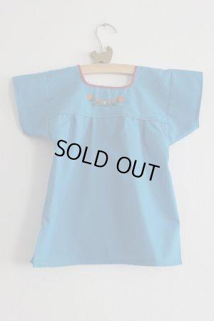 画像2: ベビー用刺繍ワンピース1〜2歳用・ブルー