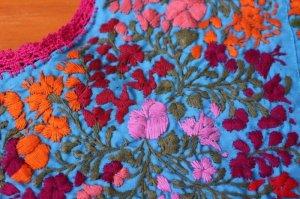 画像5: メキシコ刺繍サン・アントニーノ刺繍ワンピース・ライトブルー