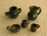 メキシコキッチン用品ミニチュア・ベルデの陶器