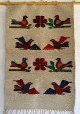 メキシコオアハカウールラグ・タペテ・鳥