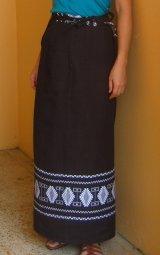 グアテマラ織ラップスカート・ダークブラウン