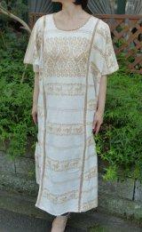メキシコ・アムスゴ族の手織り刺繍ウィピル(ワンピース)・ビンテージ