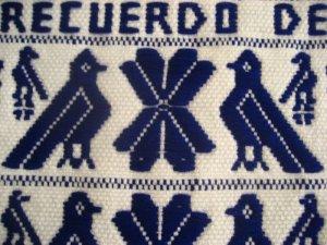 画像2: オトミ族のウール織物タペストリー(L)ブルー
