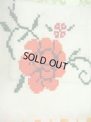 画像2: メキシコ刺繍・マサテコ族の刺繍クロス・お花